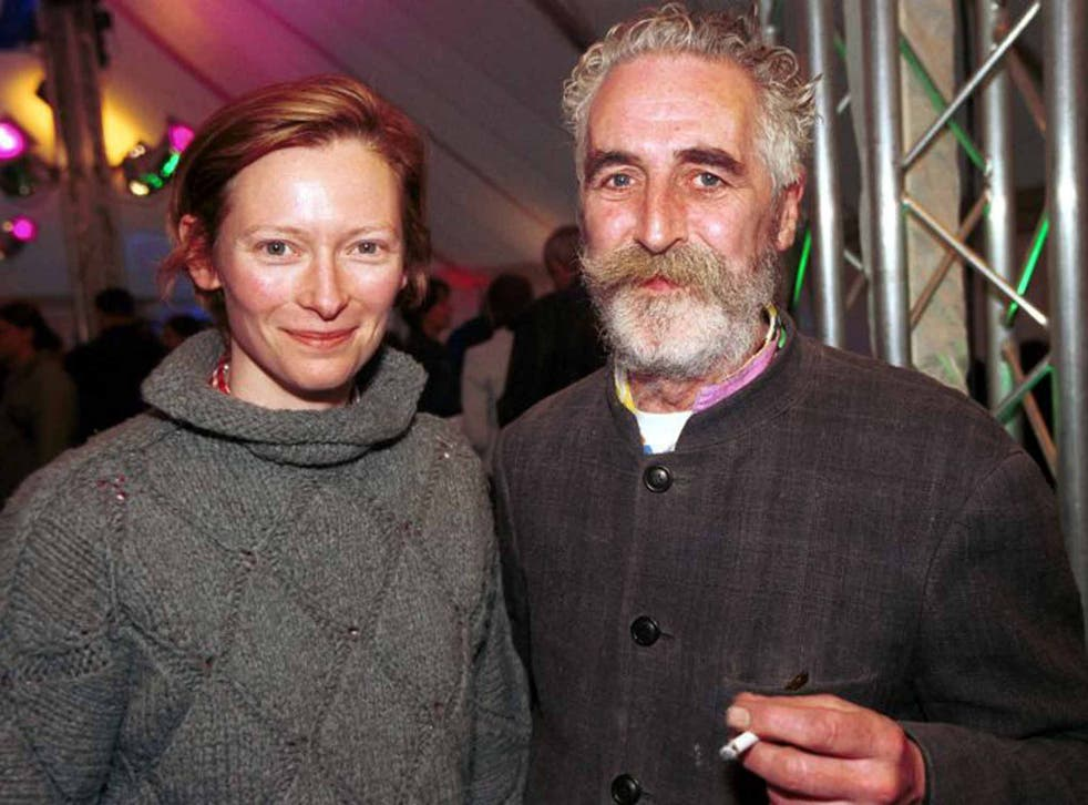A different perspective: John Byrne with Tilda Swinton (Getty)