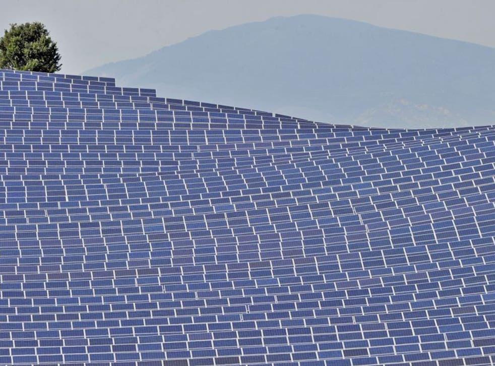 A solar energy farm in France