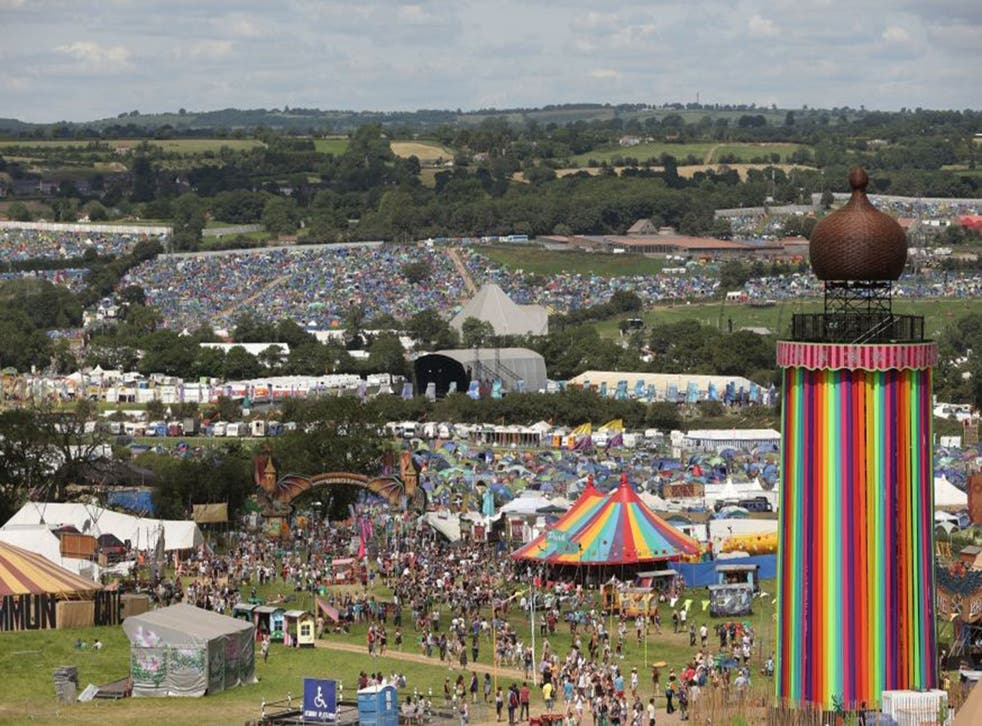 Many Glastonbury-goers took advantage of early good weather to arrive on the site early on Wednesday and Thursday