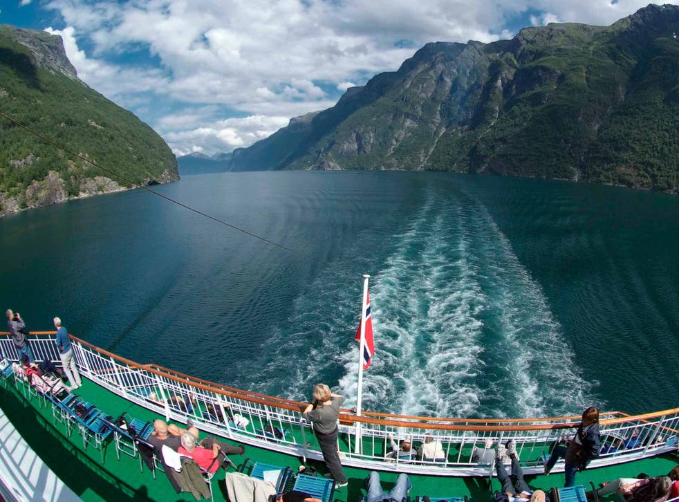 Fjord thinking: a ferry on the waters of Geiranger