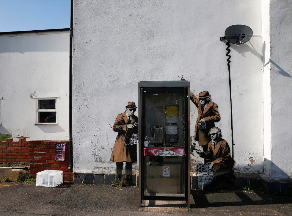 Banksy's mural in Cheltenham has been covered with scaffolding amid fears it's being removed