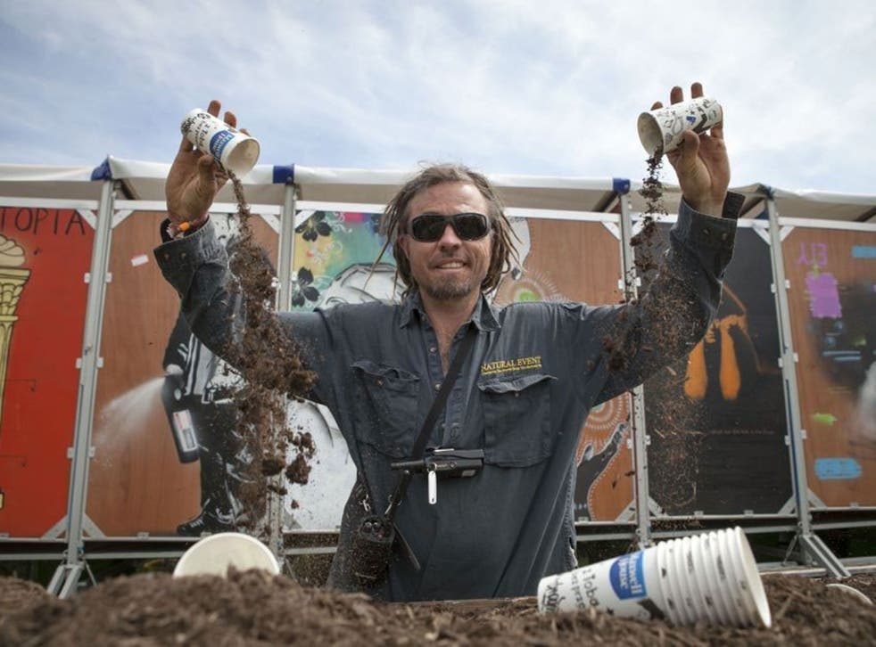Hamish Skermer who runs the composting toilets at Glastonbury with his firm Natural Events
