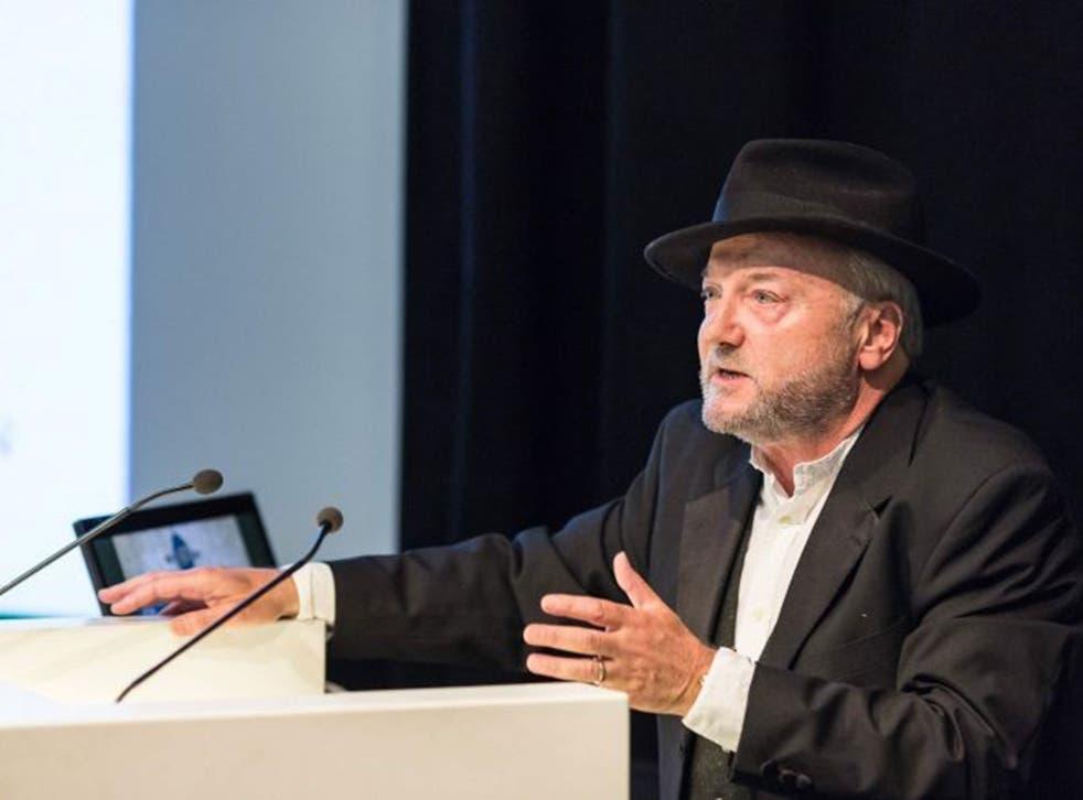 George Galloway at the Scottish independence debate in Edinburgh