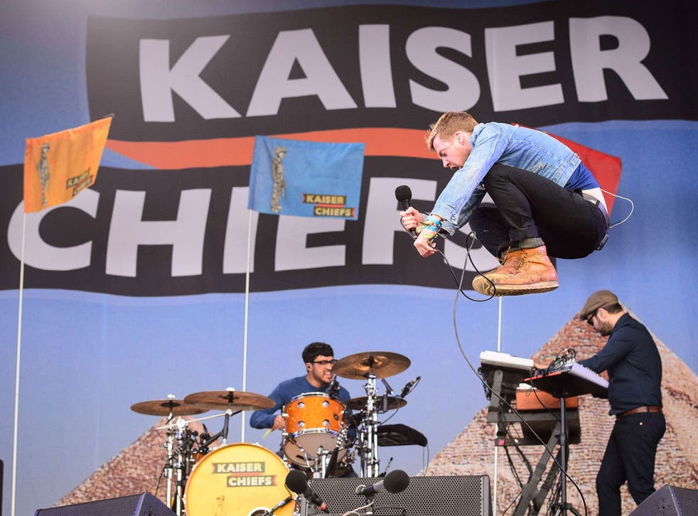 The Kaiser Chiefs perform on The Other Stage, on the first official date of the Glastonbury Festival of Music and Performing Arts on Worthy Farm in Somerset