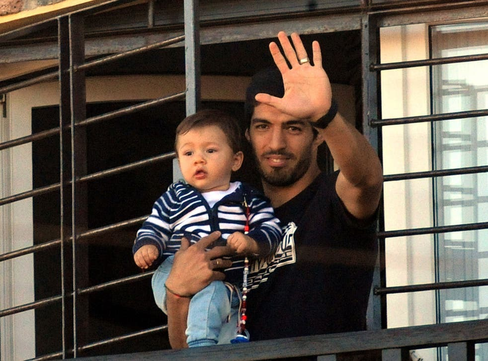 Luis Suarez is now back home in Uruguay