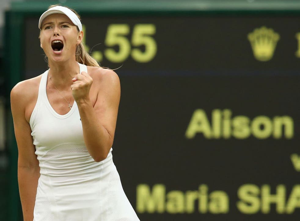 Maria Sharapova started slowly against the American Alison Riske but ran out a 6-3, 6-0 winner