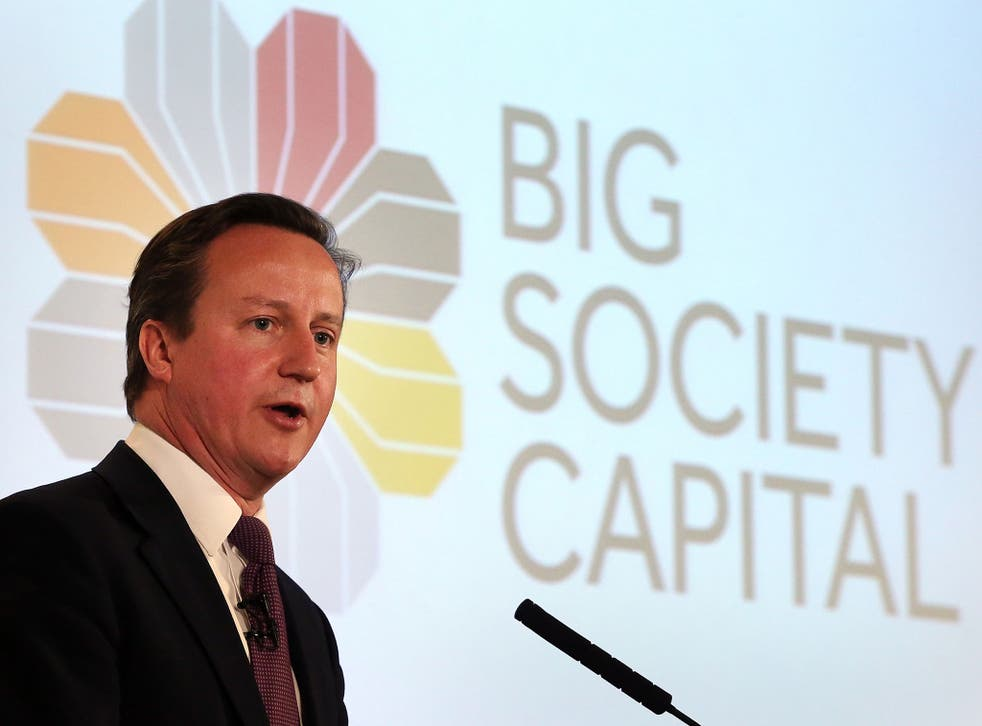 A survey of those working for Britain's charities has found that only one in 10 believes Cameron's vision of a Big Society to be a success