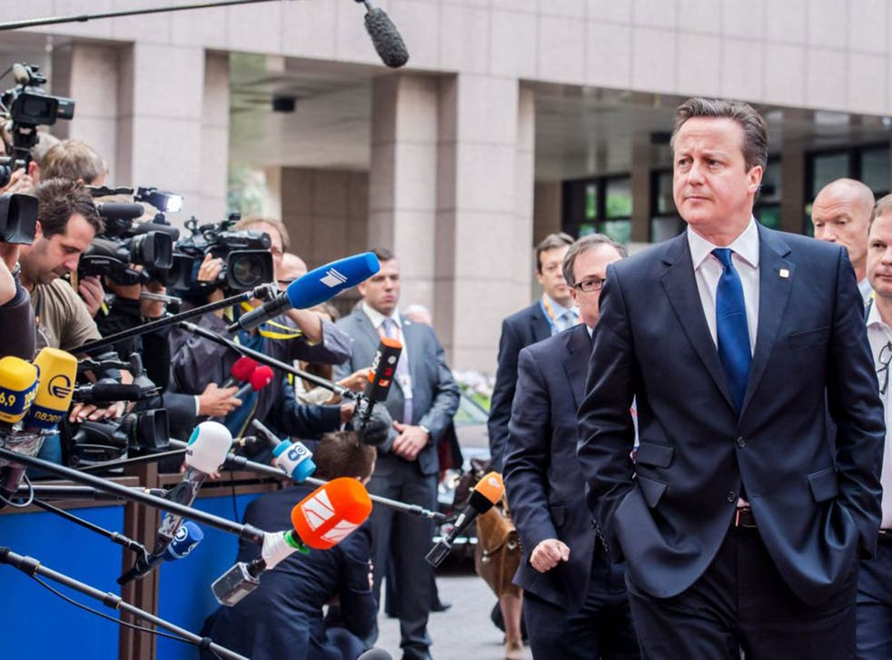 David Cameron during the summit for EU leaders in Brussels on Friday
