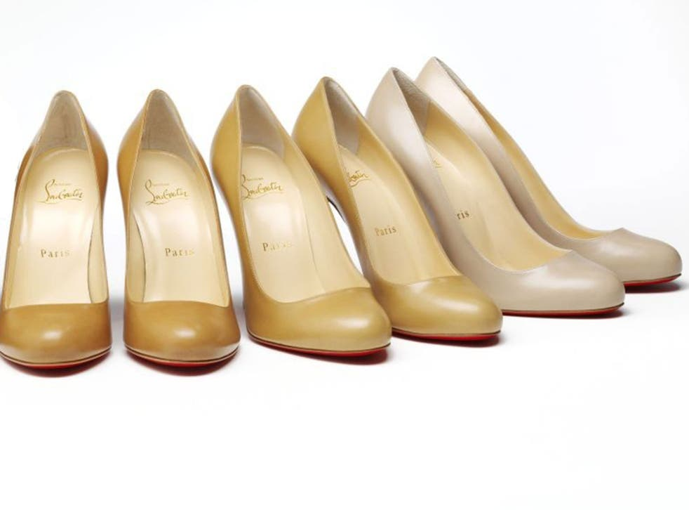 """Louboutin Nudes collection """"Nude"""" is not a synonym for """"fair"""", """"peachy"""" or """"Caucasian"""" – though you'd be forgiven for thinking so, given fashion parlance. Step forward, Christian Louboutin: the footwear designer launched The Nudes Collection of stilettos"""