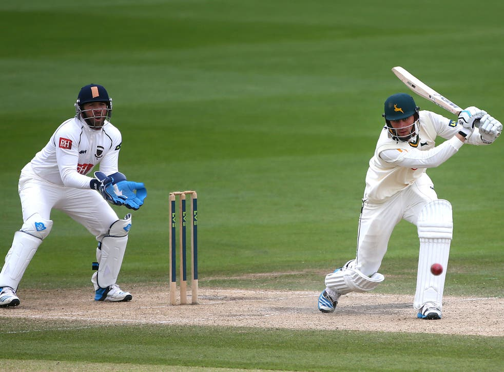 Alex Hales continued his re-establishment in the Nottinghamshire side with a superb 183 – his second century of the season