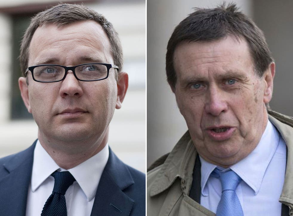 Former News of the World editor Andy Coulson and the paper's former royal editor Clive Goodman, who were told today they will face a retrial over conspiracy to commit misconduct in public office charges