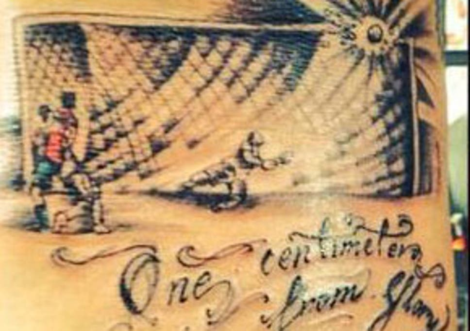 d2419f2a6 Mauricio Pinilla tattoo: 'Crossbar' design inks in World Cup 2014 as the  year of player tattoos