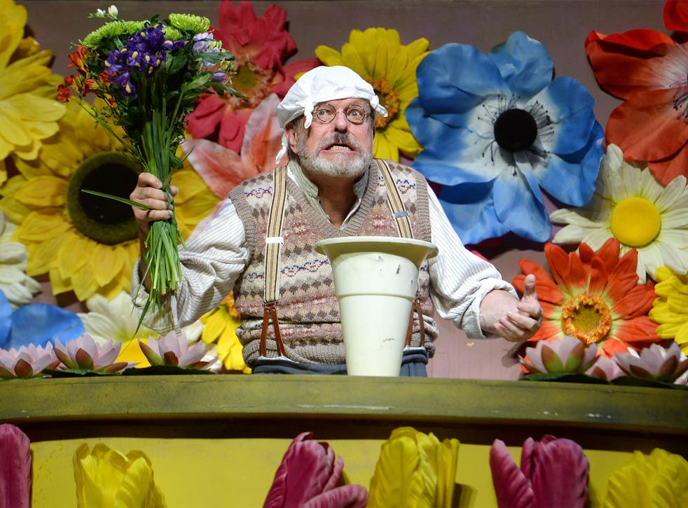 Terry Gilliam performs on the opening night of 'Monty Python Live (Mostly)'