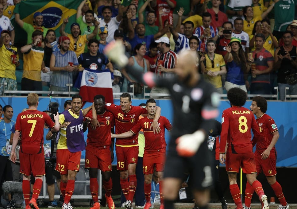 d44af8ba088 Belgium vs United States match report World Cup 2014  Kevin De Bruyne and  Romelu Lukaku overcome Tim Howard in extra-time thriller