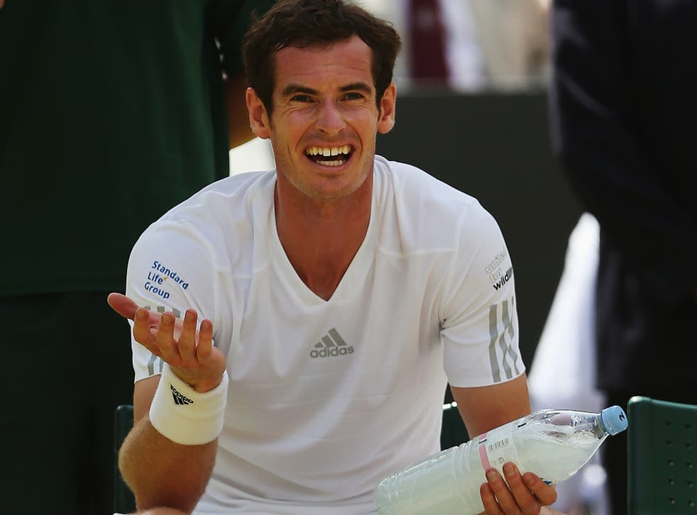 Andy Murray pictured during his defeat to Gregor Dimitrov