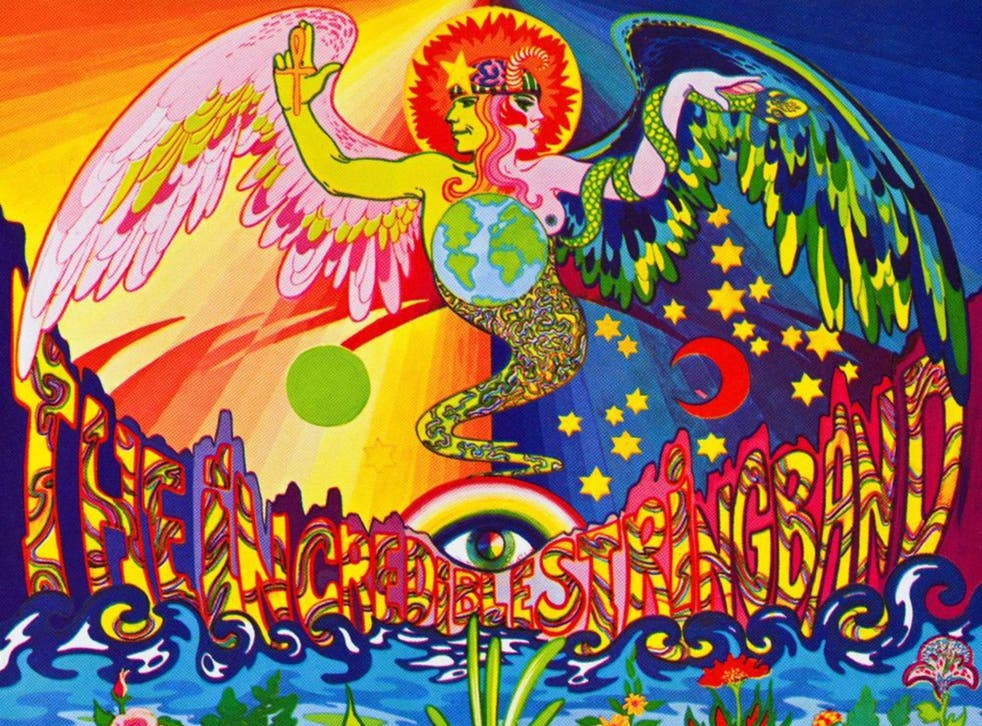 The cover of the Incredible String Band's second LP, released in 1967, showed psychedelia's influence on music and art