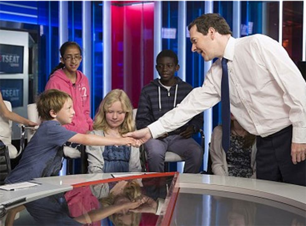 Osborne answered a range of questions on his favourite music, whether he liked the House of Commons and what he used to spend his money on as a kid