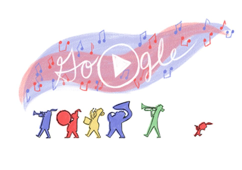 Independence Day Usa Fourth Of July Celebrated With Animated Google