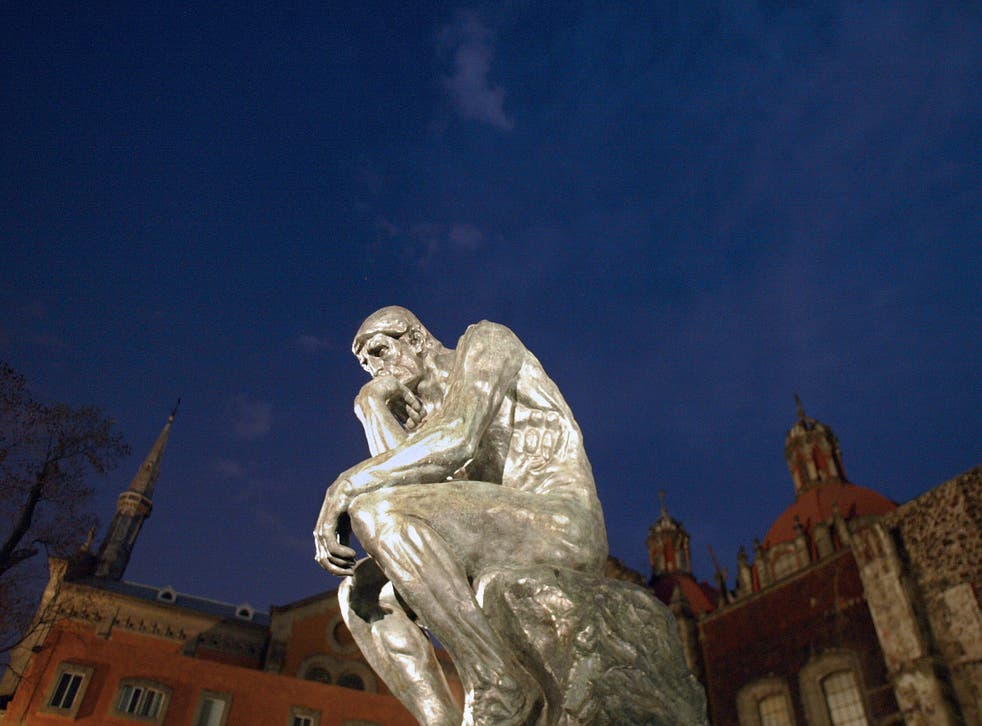Don't think too hard: the sculpture 'The Thinker' by French artist Auguste Rodin.