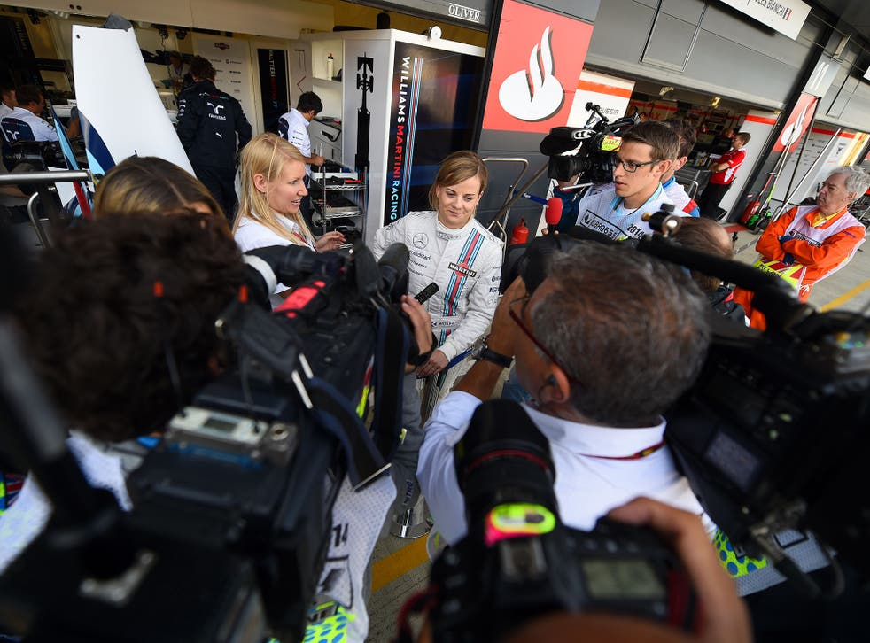 Williams driver Susie Wolff made history in practice for the British Grand Prix but it lasted only 22 minutes