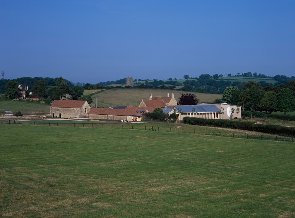 Landscape with rustic art gallery: Durslade Farm, Bruton, converted by Hauser & Wirth