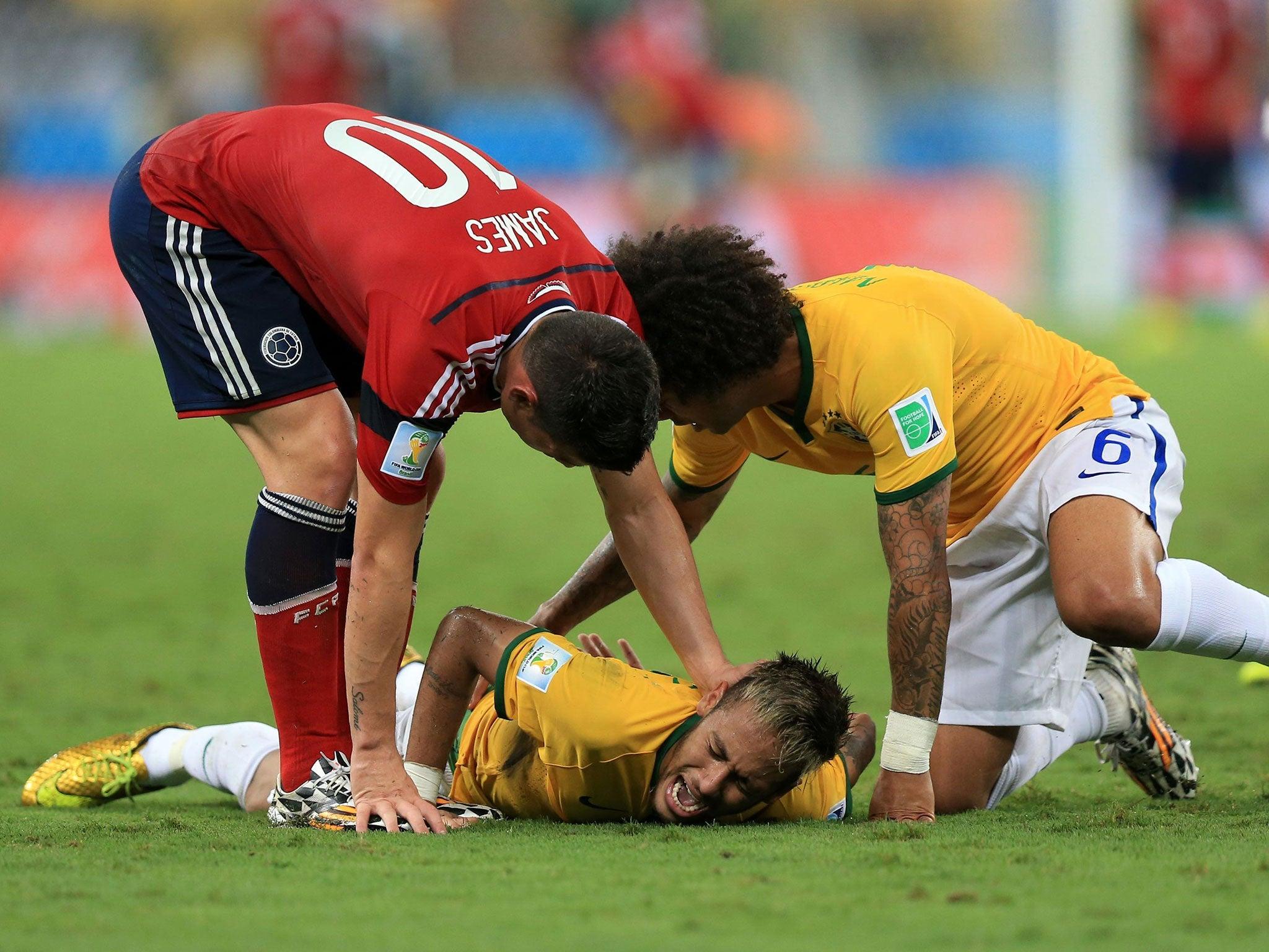 Neymar out of World Cup 2014 Juan Camilo Zuniga I did not