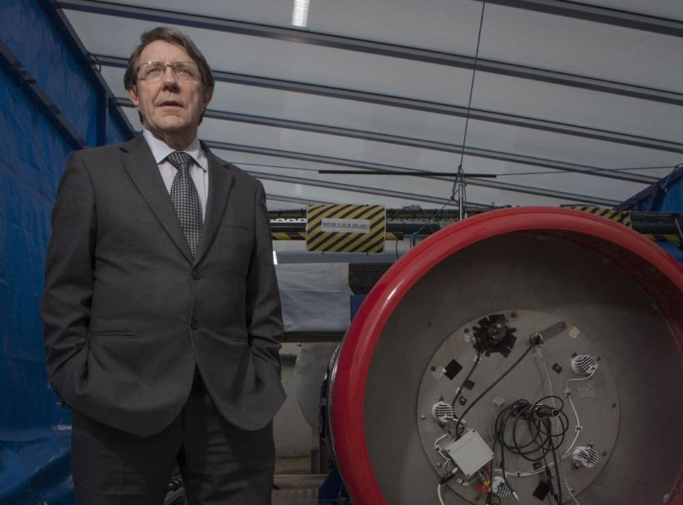 Man and machine: Alan Bond with a Sabre testbed. He believes we'll be living on other planets within three generations