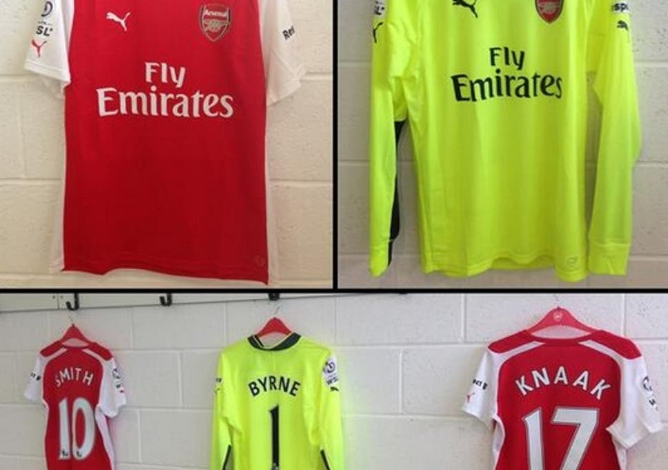 new product 2e38b 6db12 New Arsenal 2014/15 shirt: Arsenal Ladies wear Puma kit for ...