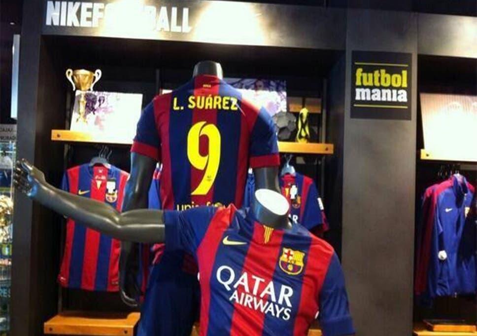 timeless design 56068 4d061 Luis Suarez to Barcelona: 'Suarez 9' shirts go on sale in ...