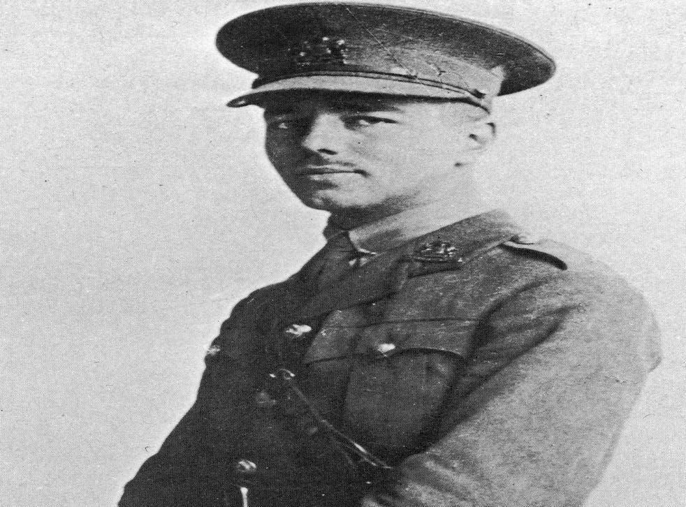 Wilfred Owen in uniform as a 2nd Lieutenant. The poet was teaching in France when the war began