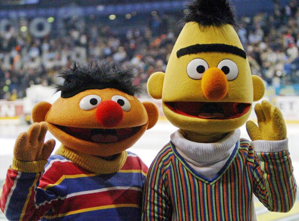 Gay icons: Sesame Street's Bert (right) and Ernie
