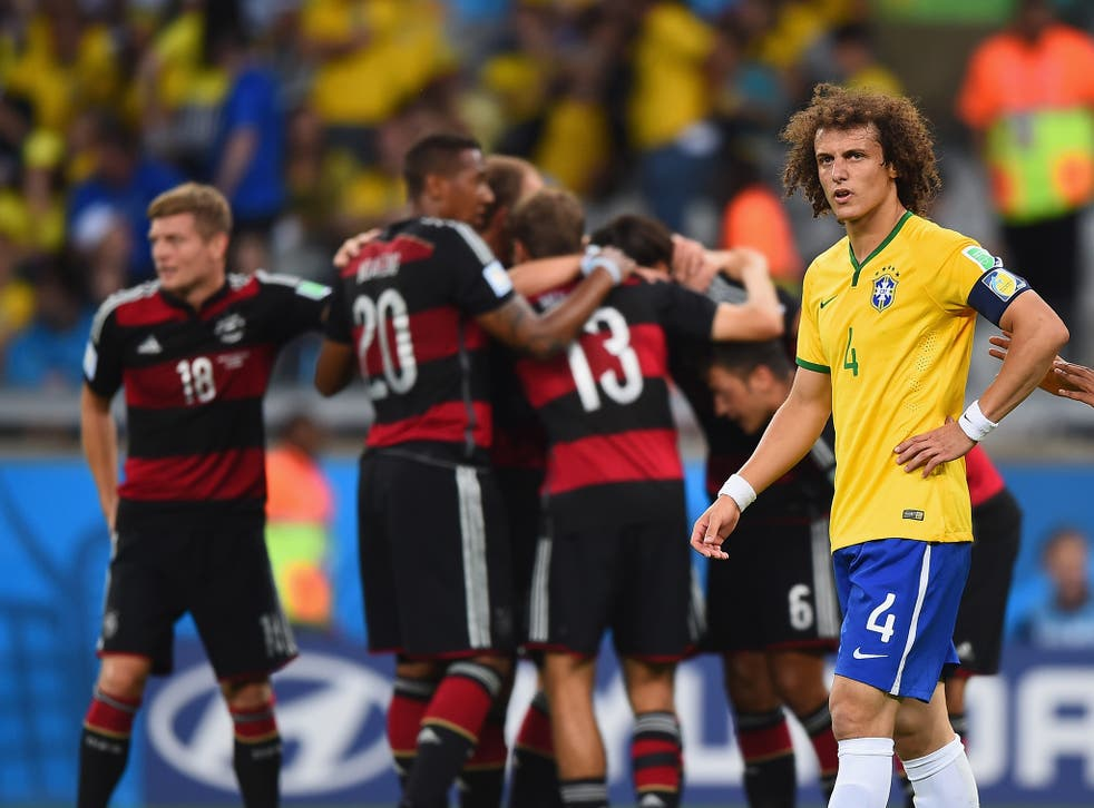 David Luiz pictured during the 7-1 defeat to Germany