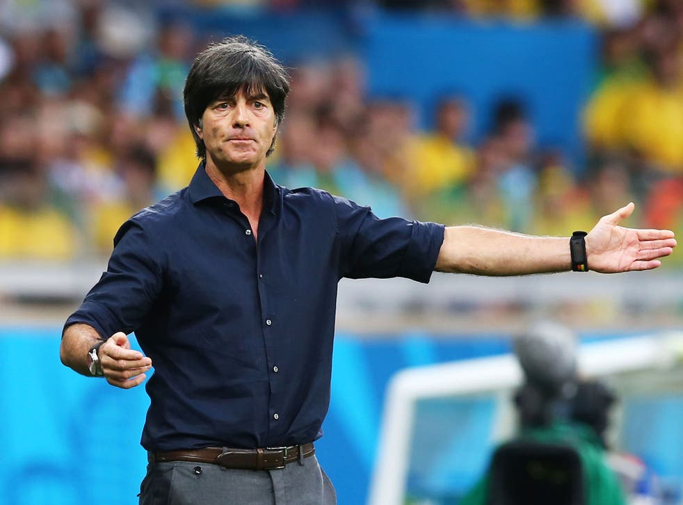 Joachim Low makes orders from the touchline