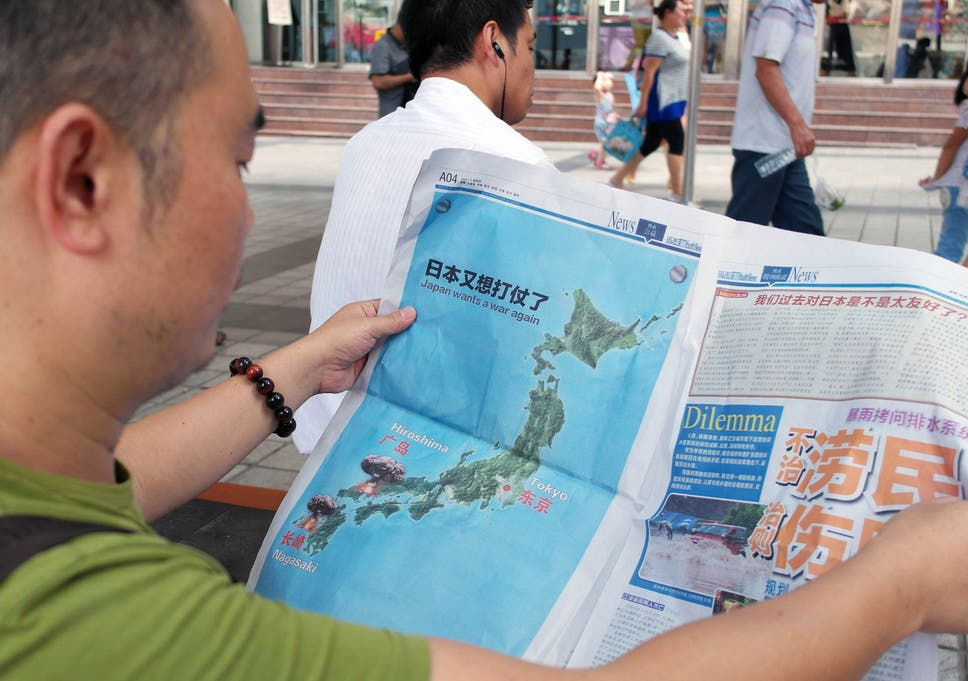 Nagasaki On World Map.Japan Outraged After Chinese Paper Publishes Map With Nuclear Bomb