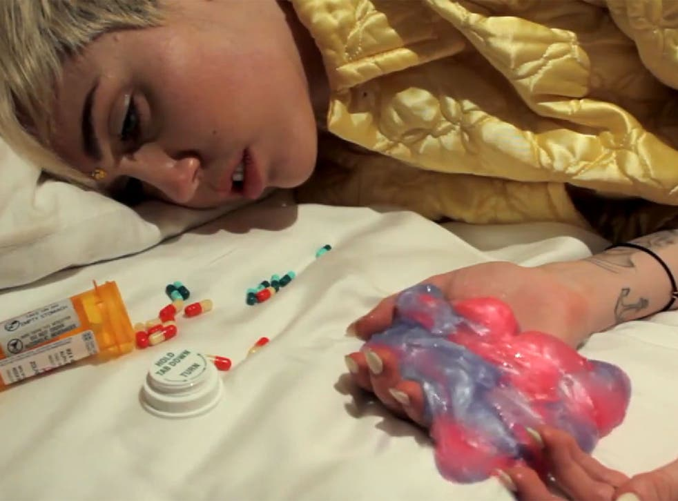 Miley Cyrus has her magic LSD brain stolen in this crazy video produced with The Flaming Lips