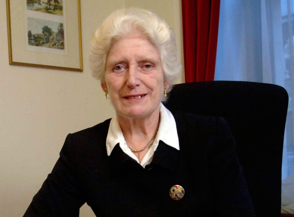 The former High Court judge Baroness Butler-Sloss, after questions were raised about her appointment to oversee the Government's inquiry into allegations of an establishment cover-up of child sex abuse