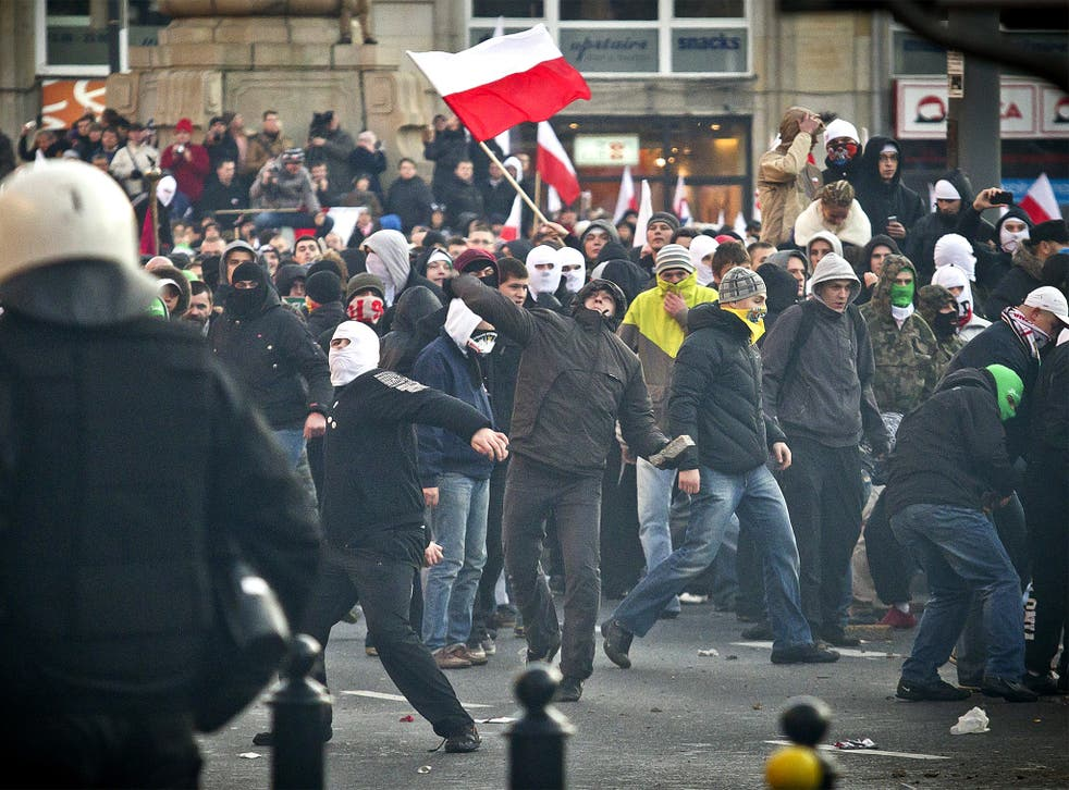 Far-right ultras have clashed with the Polish police in the past