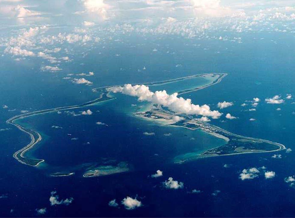 The UK-owned Indian Ocean island of Diego Garcia