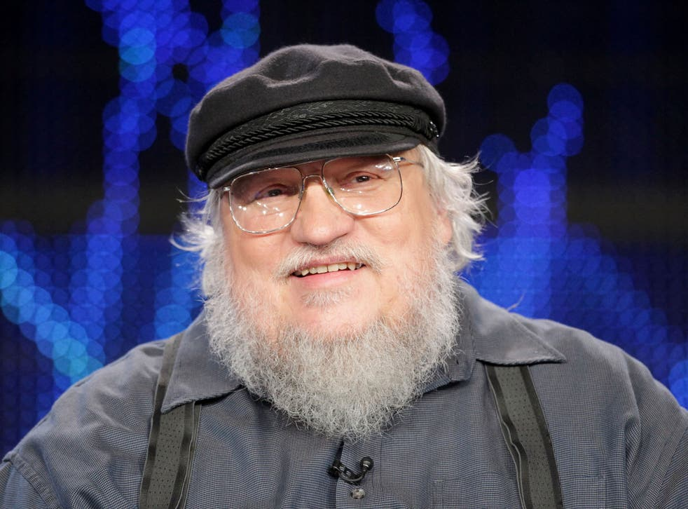 George RR Martin speaking during a Game of Thrones panel