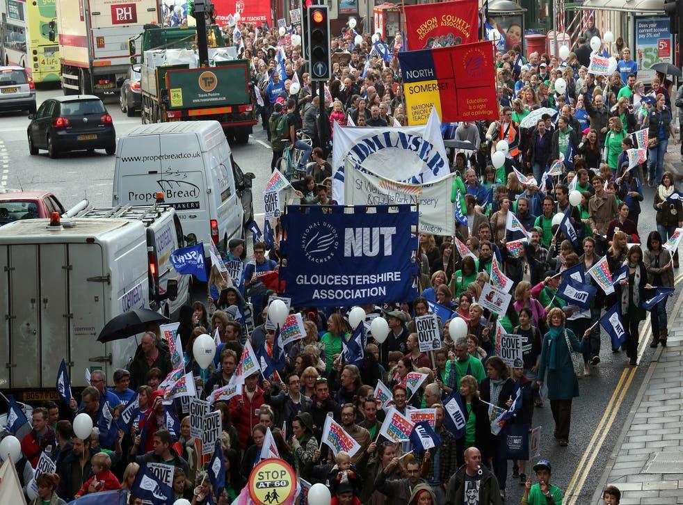 A teachers' strike in Bristol in 2013