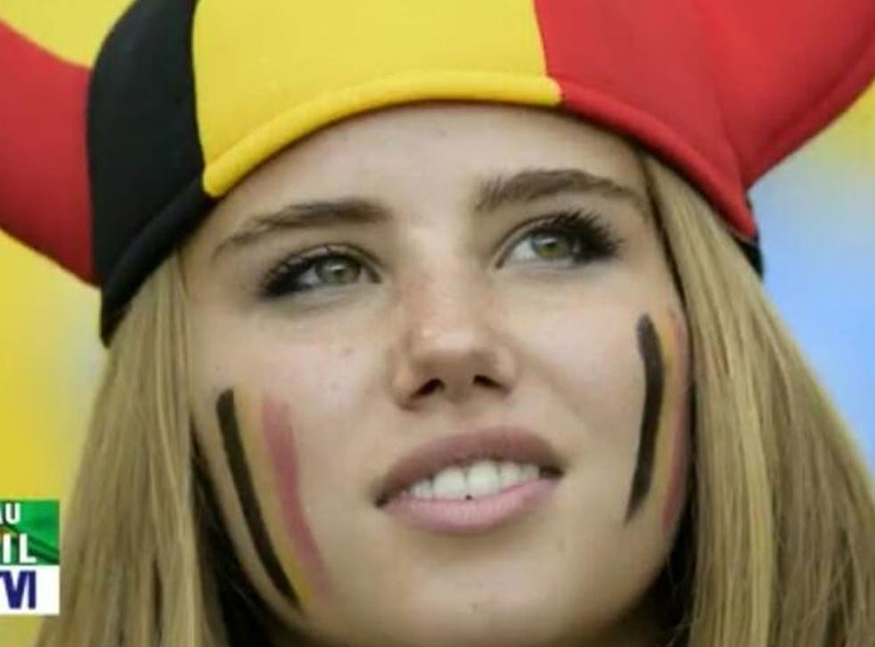 Belgium fan Axelle Despiegelaere