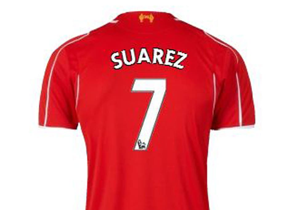 uk availability 4d032 e2fc3 Liverpool fans who bought Luis Suarez shirts will not have ...