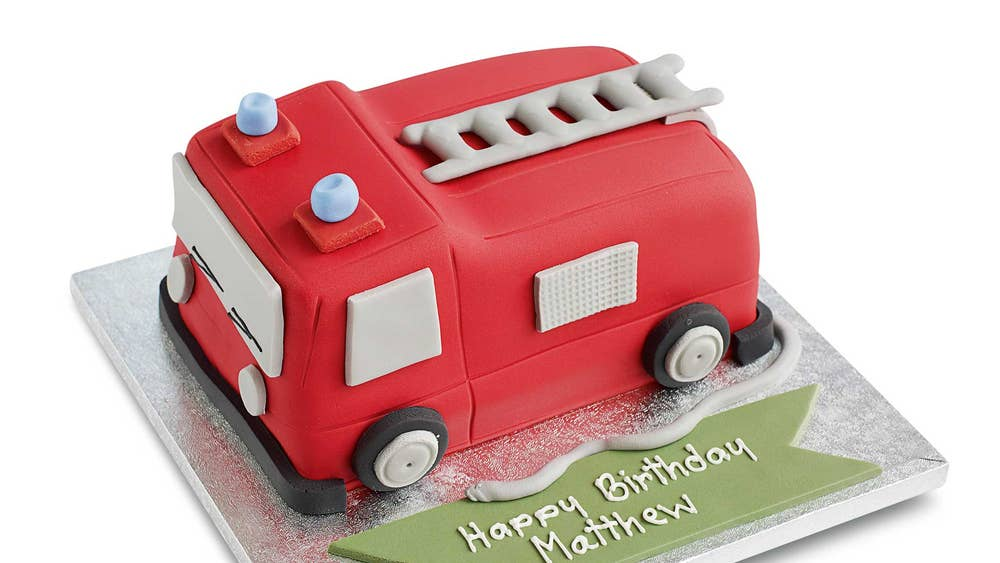 Waitrose Fire Engine Mars MMs Cake