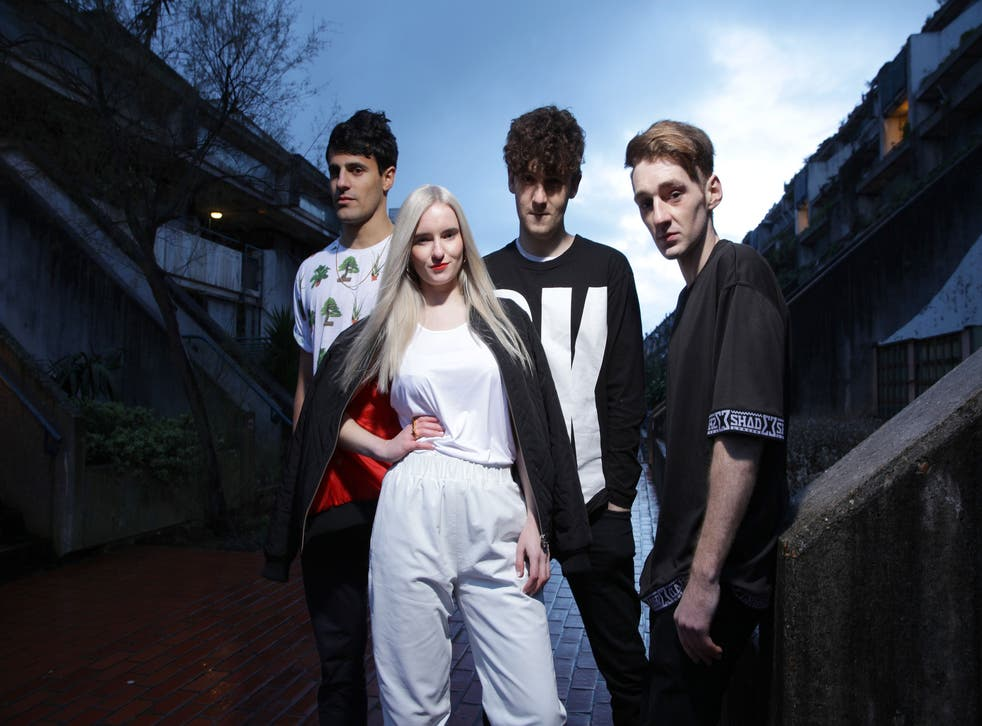 Clean Bandit, photographed at Rowley Way - South Hampstead From Left:   Milan Neil Amin-Smith (Strings), Grace Chatto (Strings), Jack Patterson (Bass, Sax, Decks) and Luke Patterson (drums).
