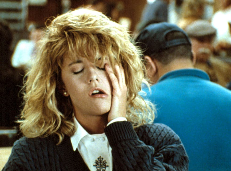 Meg Ryan faking an orgasm as Sally in 1989's When Harry Met Sally