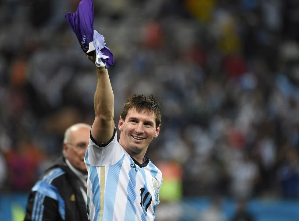 Lionel Messi pictured after reaching the final