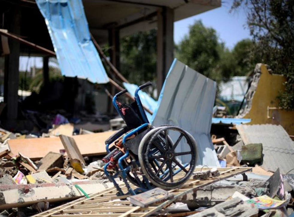 The ruins of the centre for the disabled in BeitLahia, Gaza