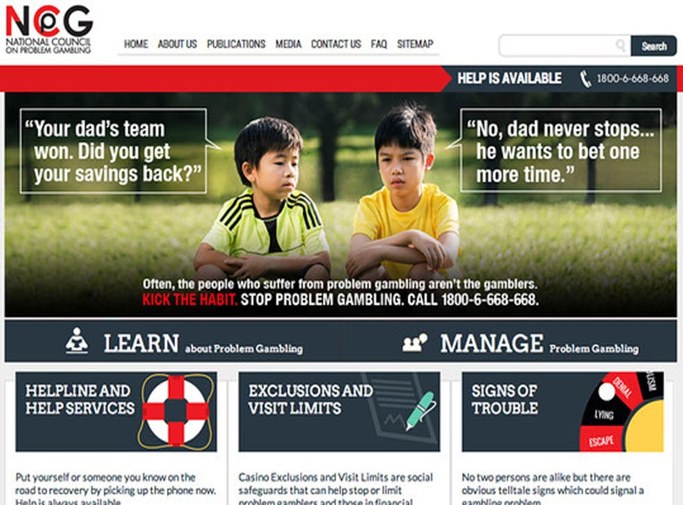 An updated anti-gambling advert issued by the National Council on Problem Gambling in Singapore