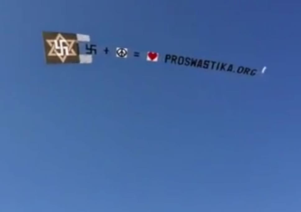 Pro Swastika Group Flies Offensive Symbol Over New York In Bid To