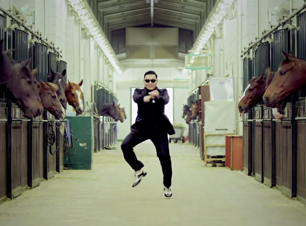 Psy dances in his hit music video 'Gangnam Style'